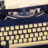 Paper in typewriter Royalty Free Stock Photography
