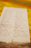 Paper with ukrainian words Royalty Free Stock Photography