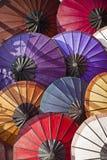 Paper umbrella. Traditional handmade paper umbrellas in Laos Royalty Free Stock Images