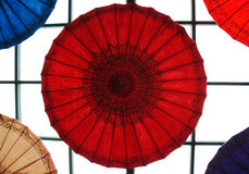 Paper umbrella. Color paper umbrella background image Royalty Free Stock Photo