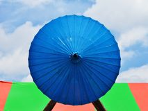 Paper umbrella handmade. Stock Photos