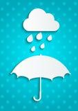 Paper umbrella Royalty Free Stock Image