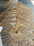 Paper umbrella structure. Paint art stock photos