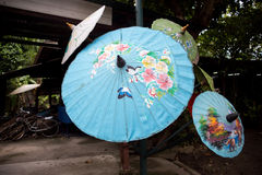 Paper umbrellas , in Chiang Mai , Thailand.  Stock Image