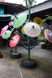 Paper umbrellas , in Chiang Mai , Thailand.  Stock Photo