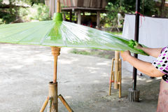 Paper umbrellas , in Chiang Mai , Thailand.  Royalty Free Stock Photography