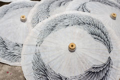 Paper umbrellas , in Chiang Mai , Thailand Stock Photos