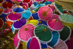 Paper umbrellas, Thailandia. It is a display of umbrellas in Chiang Mai Stock Photography