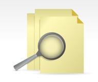 Paper under review illustration design Stock Image
