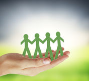 Paper unity the people design Royalty Free Stock Photo