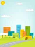 Paper urban landscaper Royalty Free Stock Image