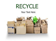 Paper. Used Paper box for recycle on isolated white background, with clipping path Stock Photography