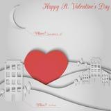 Paper valentine card Stock Photo