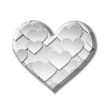 Paper valentine love heart symbol Royalty Free Stock Photo