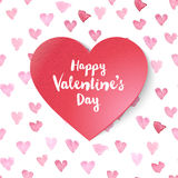 Paper Valentines heart Stock Image