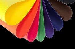 Paper variation för färg Arkivbilder