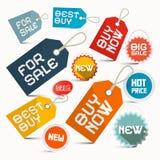 Paper Vector Business Labels Set Stock Photo