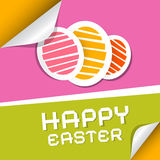 Paper Vector Easter Eggs. On Paper Background Royalty Free Stock Photo