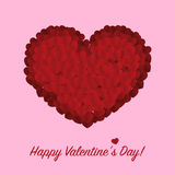 Paper vector hearts with Happy Valentines Day text Stock Photos