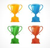 Paper vector icon set flat sports cup Royalty Free Stock Images