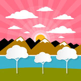 Paper Vector Nature Background Royalty Free Stock Photography