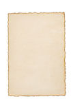 Paper vintage parchment on white Royalty Free Stock Photos