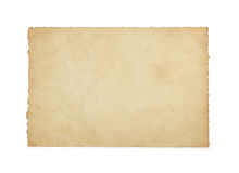 Paper vintage parchment on white Royalty Free Stock Photo