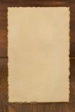 Paper vintage parchment on wood Stock Images