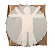 paper vitruvian för man arkivfoto