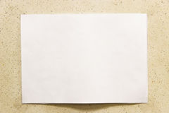 Paper on a wall. Background Stock Photos