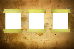 Paper on the wall. Text for a message Royalty Free Stock Images