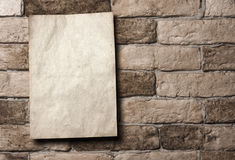 Paper on wall Stock Image