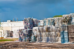 Paper waste and factory Stock Photos