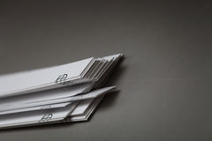 Paper waste after work printing machine Stock Images