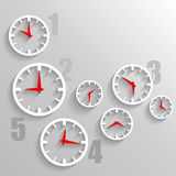 Paper Watch dials, 3d clock graphic technology background Stock Images