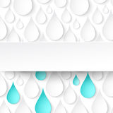 Paper water drops, abstract background with banner Stock Photography