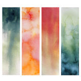 Paper watercolor painted Stock Image