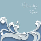 Paper wave background Stock Image