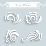 Paper Wave Icons Stock Photo