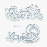 Paper wave swirls Royalty Free Stock Photo