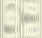 Paper waves. Spatial abstract background, white wavy stripes Stock Images