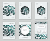 Paper waves 3d over design template colorful abstract design decorative pattern frame ornament book brochure booklet. Paper waves over 3d design template Royalty Free Stock Image