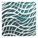 Paper waves 3d realistic template design background vector illustration Stock Images