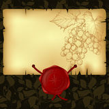 Paper with wax seal Royalty Free Stock Photos