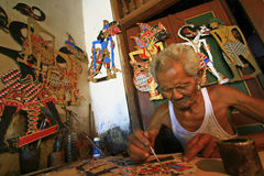Paper Wayang Puppets Stock Photos