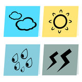 Paper weather icon illustration Royalty Free Stock Image