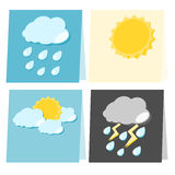 Paper weather icon illustration Royalty Free Stock Images