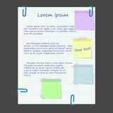 Paper web design with stickers. Eps 10 Royalty Free Stock Image