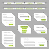 Paper Web Template Royalty Free Stock Photos