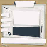 Paper website template. Royalty Free Stock Images